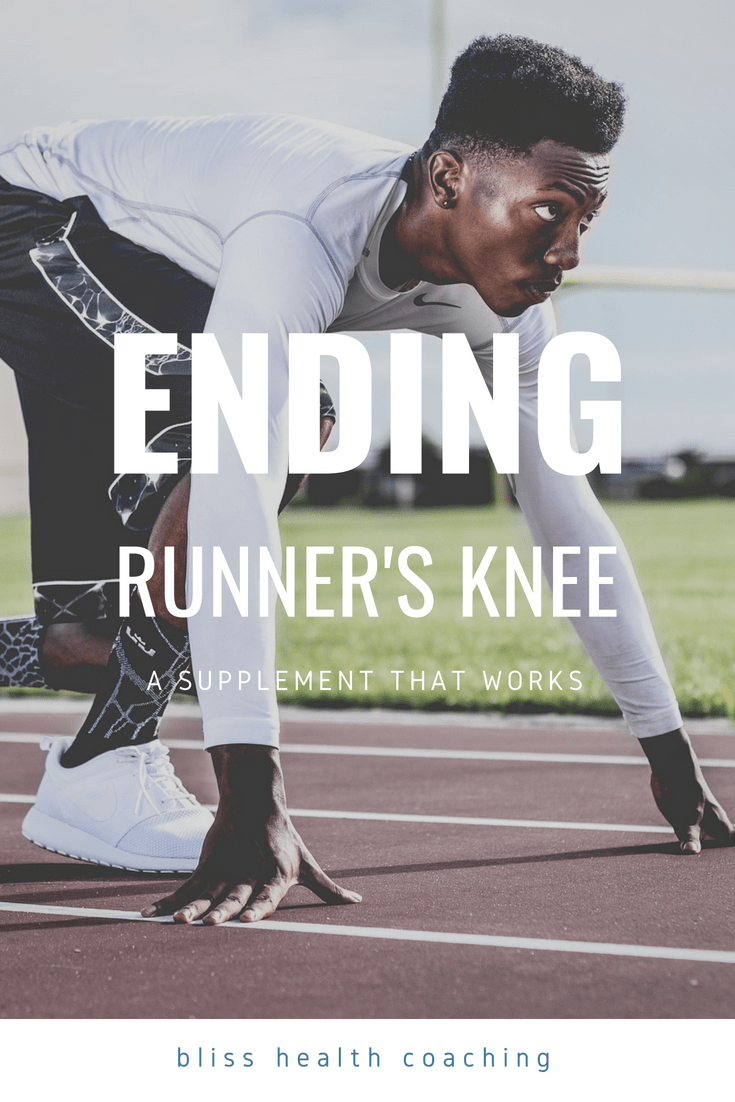 After seeing my husband suffer from runner's knee, I researched what supplement that could offer a solution. See what we found to end runner's knee pain for good. #runnersknee #kneepain #jointpain #glucosamine #arthritis #running #kneesupplements #repairjoints #leakygut