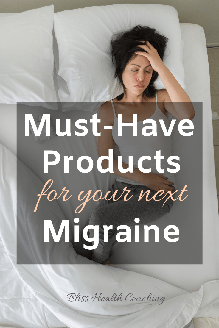 Migraine headaches can come out of nowhere. Next time you have a migraine headache here are some must-have products for your next migraine headache. #migraine #headaches #stopmigraines #headacherelief