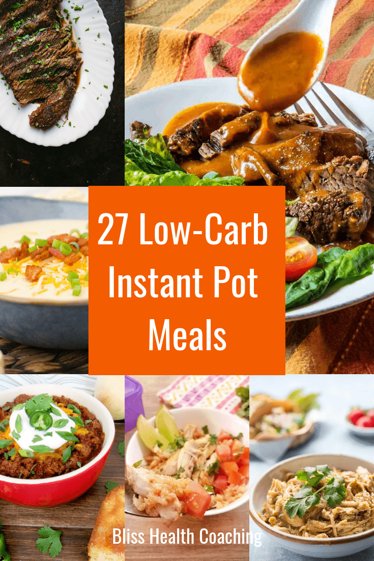 Are you eating low carb or keto and have run out of meal ideas? These recipes using the instant pot are full of flavor and super easy to make. #instantpotlowcarb #instantpotketo #instantpotmeals #lowcarb